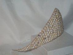 Handmade large all swarovski crystal bridal wedding sparkly