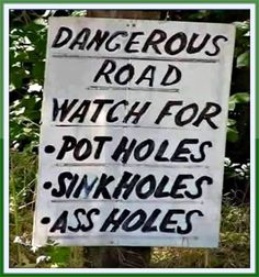Roads can come with all sorts of dangers. Some are small, some are large, some are easy to avoid, while others aren't.