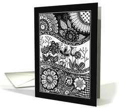 Flowers, garden and nature- blank card by Leila