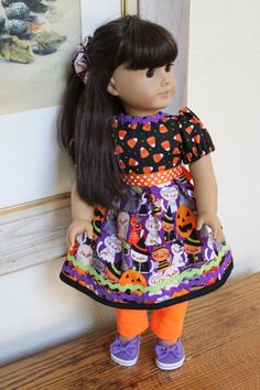 American Girl Doll Clothes Halloween Dress by Sariahsdollcloset, $12.99