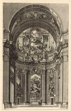 Inside the church of Sant'Ignazio, Rome