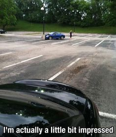 How the F*** do hit the only object in an empty parking lot?