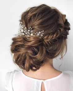 Hairstyle Inspiration , braid hairstyles ,updo,braided updo ,wedding hair #hairstyle #weddinghair bridal updo #braids
