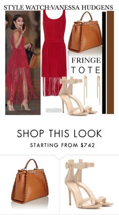 """""""Style Watch:Vanessa Hudgens..."""" by nfabjoy ❤ liked on Polyvore featuring Fendi, Gianvito Rossi, women's clothing, women's fashion, women, female, woman, misses, juniors and fringe"""