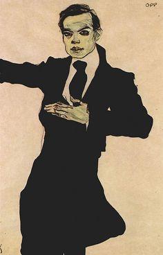 Egon Schiele Portrait of Max Oppenheimer