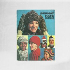 How to Knit Hats Gloves Scarves and Mittens | Bernat Hats Scarves and Mittens Booklet | 1970s Vintage Knitting Book | 70s Retro Fashion Chic #vintage #books #reading