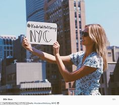 Close to her heart: Karlie shared a snap on Instagram as she stopped by her Kode With Klos...