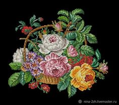 Berlin, Cross Stitch Embroidery, Needlepoint, Needlework, Floral Wreath, Monogram, Tapestry, Pillows, Christmas Ornaments