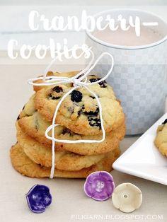 filigarn: {gebackenes} Cranberry-Cookies Cranberry Cookies, Pancakes, Breakfast, Food, Happy, Food Food, Backen, Nice Asses, Sunday