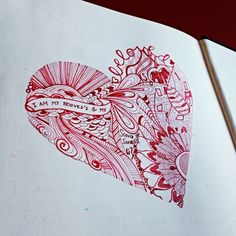 A valentine I doodled for my husband. It's in the back of my journaling bible.