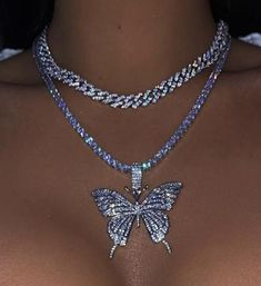 choker necklace for teens 21st birthday choker Dark blue butterfly necklace freedom necklace