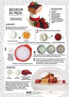 ¿Os apetece bizcocho de fresa?