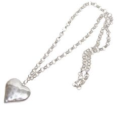 Silver Heart Necklace Long – Lifestyle Home & Living