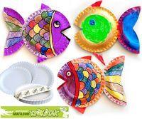 Rainbow Fish book idea paper plate art by krokotak Kids Crafts, Summer Crafts, Toddler Crafts, Projects For Kids, Arts And Crafts, Art Projects, Kids Diy, Paper Plate Fish, Paper Plate Art