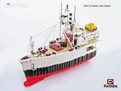 Calypso WIP /by Konajra #flickr #LEGO #ship #Cousteau