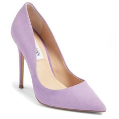 Women's Steve Madden Daisie Pointy-Toe Pump (5.120 RUB) ❤ liked on Polyvore featuring shoes, pumps, heels, lavender suede, suede pointy toe pumps, pointed-toe pumps, stiletto heel pumps, steve madden shoes and suede shoes