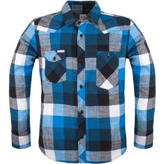 Topo Designs Plaid Flannel Work Shirt - Long-Sleeve (475 AED) ❤ liked on Polyvore featuring men's fashion, men's clothing, men's shirts, men's casual shirts, mens long sleeve shirts, mens tartan shirt, star wars mens shirts, mens long sleeve work shirts and mens flannel shirts