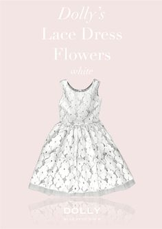 DOLLY LACE DRESS FLOWERS white