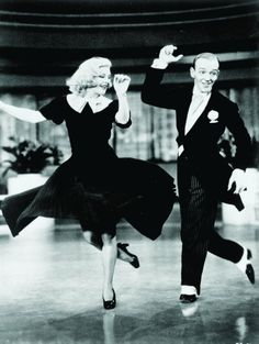 "Fred Astaire and Ginger Rogers in ""Swing Time"" (1936) one of my favorite musicals of all time- I could watch these two dance all day."