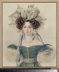 Portrait of Princess Elizabeth Vorontsova, by Pyotr Fyodorovich Sokolov 1800s Fashion, 19th Century Fashion, Victorian Fashion, Vintage Fashion, Historical Costume, Historical Clothing, 1800s Clothing, Gabrielle D'estrées, Reine Victoria