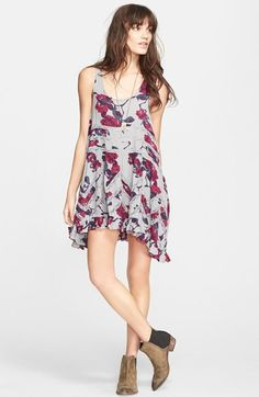 Free People Print Trapeze Slipdress available at #Nordstrom (Newest color for my collection - woo!)