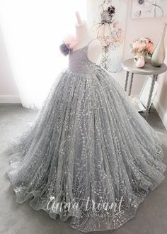 Step into the luxurious world of little girls gowns by Anna Triant Couture and experience the magic of innovative style in every perfect stitch. Baby Girl Wedding Dress, Princess Flower Girl Dresses, Princess Ball Gowns, Baby Gown, Little Girl Gowns, Gowns For Girls, Frocks For Girls, Wedding Dresses For Girls, Party Wear Frocks