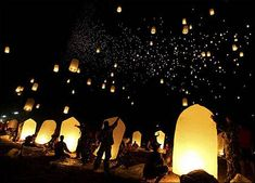 Who needs to throw rice when you can have sky lanterns!?