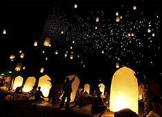 letting lanterns go on wedding night? hmm..