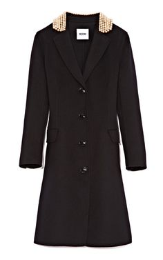 Shop Pearl-Embellished+Felt-Wool+Coat+by+Moschino+Cheap+&+Chic+Now+Available+on+Moda+Operandi