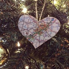 #35 Map Ornament -             DIY Christmas Ornaments   POPSUGAR Smart Living