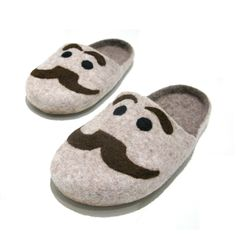 Fun felt slippers with a mustache would keep toes toasty and make you smile. $60.00, from FeltingbyEglut.