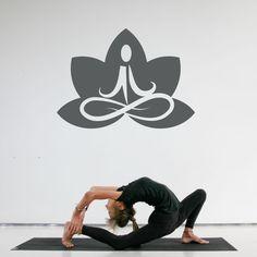 Lotus Flower Yoga Wall Art Decal Sticker. $20.00, via Etsy.