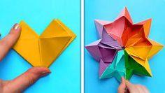 5 Min Crafts, 5 Minute Crafts Videos, Diy Crafts Hacks, Easy Crafts, Cool Paper Crafts, Paper Crafts Origami, Creative Crafts, Colour Paper Craft, Instruções Origami