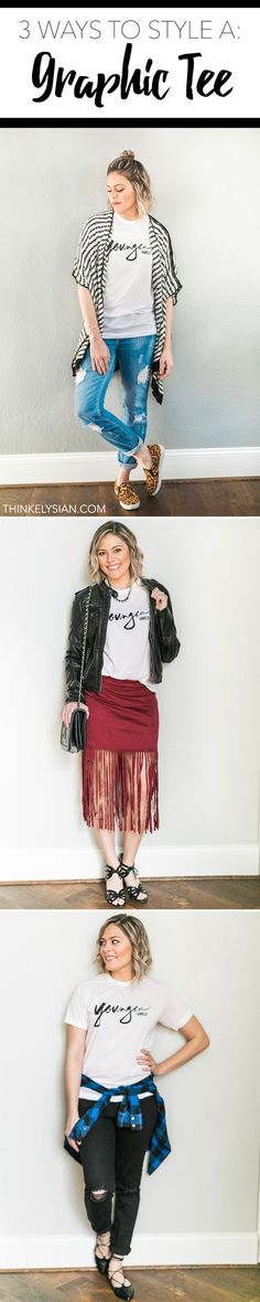 3 Ways to style a graphic tee // thinkelysian.com