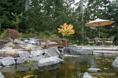 Get inspiration for backyard ponds! View pond pictures, pond images and photos of Aquascape backyard ponds and water gardens. Learn about ponds!  *BRIDGE