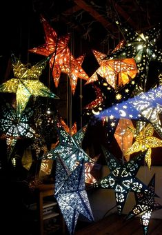 more star lights and so neat that they are made of paper... love these