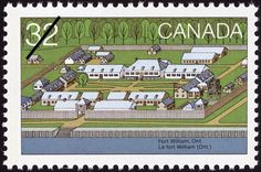Canada Day, Forts across Canada Stamps Ontario, Happy Canada Day, Canada 150, Fort William, Clash Of Clans, Stamp Collecting, Mail Art, Postage Stamps, Places To Visit