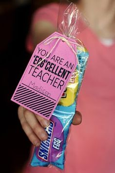 "A cute easter gift for teacher ""You Are Egg-Cellent"""