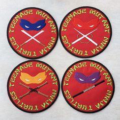 """Teenage Mutant Ninja Turtle Patch Embroidered Iron On Applique 4.0/"""" X 2.75/"""" TMNT"""