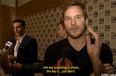 Tom Hiddleston and Chris Pratt in one gif.