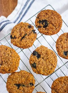 Honey sweetened, 100% whole grain muffins that are light, fluffy and delicious! Add blueberries or any other fruit you'd like.