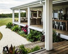 The Grove Byron Bay outdoor space Outside Living, Outdoor Living, The Grove Byron Bay, Facade House, Coastal Cottage, Outdoor Areas, My Dream Home, Exterior Design, Beautiful Homes