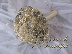 Vintage Pearl Bling Brooch Bouquet | Weddingbee Photo Gallery