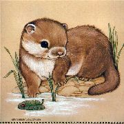 Ruth Morehead Animales del Bosque Forest Friends Collection Ilustraciones Vintage Cards