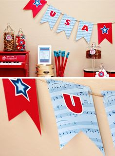 Fourth of July Party Banner Free Printable