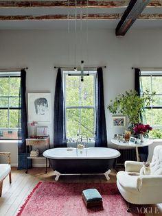 Loft Living Bathroom Via: Vogue.com