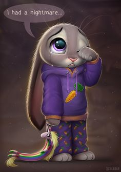 Oh my goodness! If anyone noticed it's Judy Hops from Zootopia with Lady Rainicorn from adventure time!💜 so precious💜💜💜💜 Zootopia Comic, Zootopia Art, Disney And Dreamworks, Disney Pixar, Disney Characters, Disney Memes, Disney Cartoons, Cute Animal Drawings, Cute Drawings