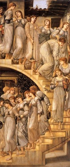 Edward Burne-Jones The Golden Stairs painting for sale, this painting is available as handmade reproduction. Shop for Edward Burne-Jones The Golden Stairs painting and frame at a discount of off. John William Waterhouse, Pierre Auguste Renoir, William Morris, Jenny Morris, William Blake, Pre Raphaelite Paintings, John Everett Millais, Edward Burne Jones, Dante Gabriel Rossetti