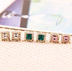 Yasurs™ 2014 New Fashion Jewelry Korean Temperament Simple Square Gem Crystal Earrings For Women. http://www.yasurs.com/yasurstm-2014-new-fashion-new-arrived-fashion-elegant-bowknot-inlay-heart-shape-opal-rhinestone-earring.html #jewelry