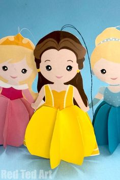 Part of our 7 Princess Ornament series. These free printables make great Christmas Decorations or Paper Dolls to play with Paper Crafts For Kids, Easy Crafts For Kids, Diy Arts And Crafts, Art For Kids, Gifts For Kids, Grandma Crafts, Mothers Day Crafts, Christmas Ornament Crafts, Holiday Crafts
